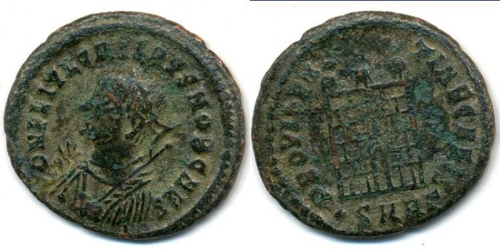 Ancient Coins - LICINIUS II, AE-3, AD 317-324, Heraclea mint, (19mm, 2.18 g) - RIC 45