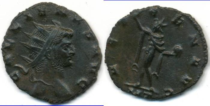 Ancient Coins - GALLIENUS, AE Antoninianus, AD 253-268, Milan mint, (20mm, 2.67 gm) - RIC V 465a