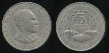 World Coins - Guinea, Republic, 1962 5 Francs - Extra Fine
