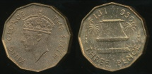 Fiji, Republic British Administration, 1950 Threepence, George VI - Uncirculated