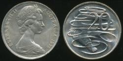 World Coins - Australia, 1978 Canberra 20 Cent, Elizabeth II - Uncirculated