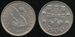 World Coins - Portugal, Republic, 1982 5 Escudos - Uncirculated