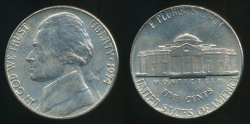 World Coins - United States, 1974 5 Cents, Jefferson Nickel - Uncirculated