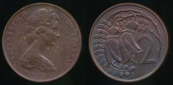 World Coins - New Zealand, 1973, Two Cents, 2c, Elizabeth II - Uncirculated