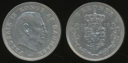 World Coins - Denmark, Kingdom, Frederik IX, 1971 5 Kroner - Very Fine