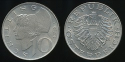 World Coins - Austria, Republic, 1974 10 Schilling - Uncirculated