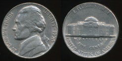 World Coins - United States, 1970-S 5 Cents, Jefferson Nickel - Extra Fine