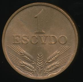 World Coins - Portugal, Republic, 1977 1 Escudo - Uncirculated