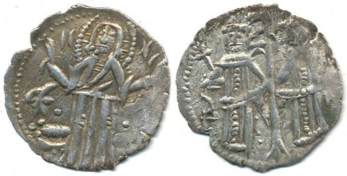 Ancient Coins - BULGARIA. Empire, Ivan Alexander and Mikhail Asen, AR Grosh, AD 1331-1371, (20mm, 1.31g) - Your.74-80