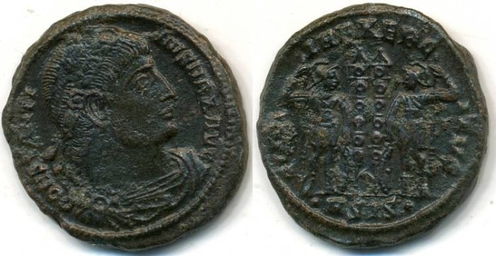 Ancient Coins - CONSTANTINE I, AE-3, AD 306-337, Siscia mint, (19mm, 3.86 gm) - RIC VII 116