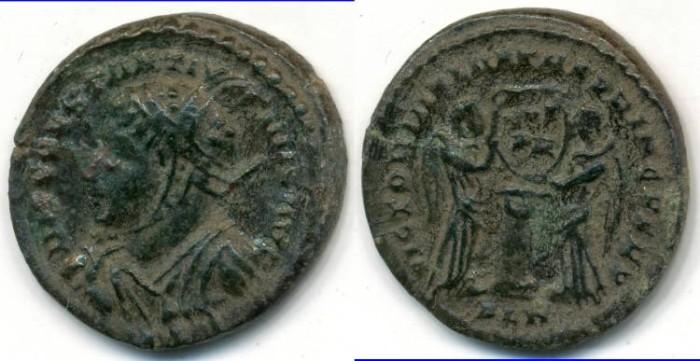 Ancient Coins - CONSTANTINE I, AE-Follis, AD 306-337, London mint, (19mm, 2.95 gm), Struck AD 319 - RIC VII 156