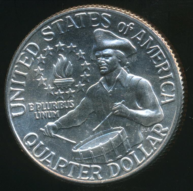 United States 1976 D Quarter Dollar Washington Drummer
