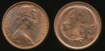 World Coins - Australia, 1966(c) One Cent, 1c, Elizabeth II - Uncirculated