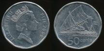 Fiji, Republic, 2009 50 Cents, Elizabeth II - Extra Fine