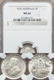 World Coins - Australia, 1936(m) Threepence, George V (Silver) - NGC MS64