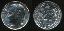 World Coins - United States, 1995-P Dime, Roosevelt - Uncirculated