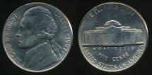 World Coins - United States, 1997-P 5 Cents, Jefferson Nickel - Uncirculated