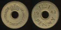 Fiji, Republic British Administration, 1942(s) Penny, 1d, George VI - Fine