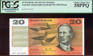 World Coins - Australia, 1979 Twenty Dollars, $20, Knight-Stone, R407b (OCR-B side thread) - PCGS 58PPQ