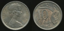 World Coins - Australia, 1966(L) Ten Cents, 10c, Elizabeth II - Uncirculated