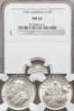 World Coins - Australia, 1936(m) Threepence, George V (Silver) - NGC MS64