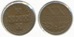 World Coins - PORTUGAL - 1949, 20 Centavos, KM# 584