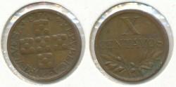World Coins - PORTUGAL - 1943, 10 Centavos, KM# 583