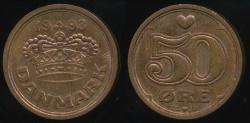 World Coins - Denmark, Kingdom, Margrethe II, 1993 50 Ore - Uncirculated