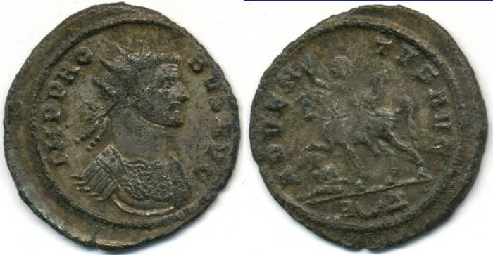 Ancient Coins - PROBUS, AE Antoninianus, AD 276-282, Rome mint, (24mm, 3.15 gm), RIC 157
