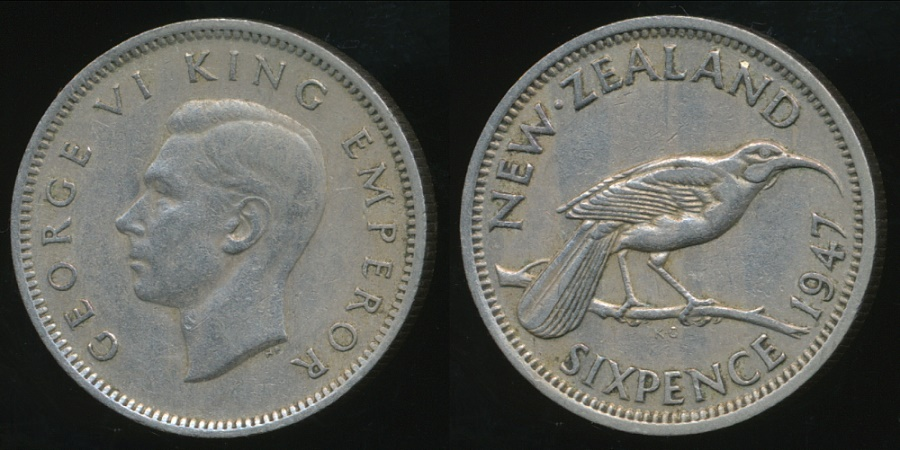 1947 Australian Silver 2// TWO Shilling Florin KING GEORGE VI very Nice