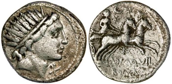 Ancient Coins -   ROMAN REPUBLIC - Man. Aquillius, AR Denarius (c.109-108 B.C.), Rome mint, (20mm, 3.67 g) - Cr.303/1