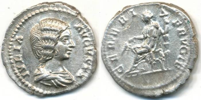 Ancient Coins - JULIA DOMNA. AR Denarius, AD 211-217, Rome mint, (20mm, 3.20 gm) - RIC 546