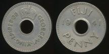 Fiji, Republic British Administration, 1941 Penny, 1d, George VI - Very Fine