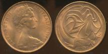 World Coins - Australia, 1966(p) 2 Cents, Elizabeth II - Uncirculated