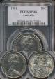 World Coins - Australia, 1981 Fifty Cents, 50c, Elizabeth II - PCGS MS66