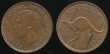 World Coins - Australia, 1952(m) One Penny, 1d, George VI - Uncirculated