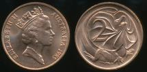 World Coins - Australia, 1985 Two Cents, 2c, Elizabeth II - Uncirculated