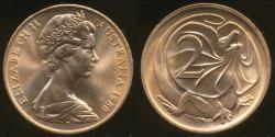 World Coins - Australia, 1980 Canberra 2 Cent, Elizabeth II - Choice Uncirculated