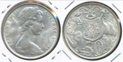 World Coins - Australia, 1966 Fifty Cents, 50c, Elizabeth II (Silver) - Uncirculated
