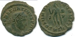 Ancient Coins - CONSTANTINE I, AE-Follis, AD 306-337, London mint, (21mm, 2.16 gm), Struck AD 314-316 - RIC VII 46
