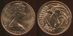 World Coins - New Zealand, 1979 2 Cent, Elizabeth II - Choice Uncirculated