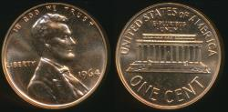 World Coins - United States, 1964 One Cent, 1c, Lincoln Memorial - Proof
