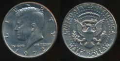 World Coins - United States, 1972 Half Dollar, Kennedy - Uncirculated