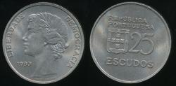 World Coins - Portugal, Republic, 1980 25 Escudos - Uncirculated