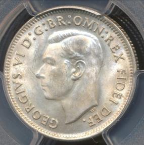 World Coins - Australia, 1952(m) One Shilling, 1/-, George VI (Silver) - PCGS MS64 (Ch-Unc)