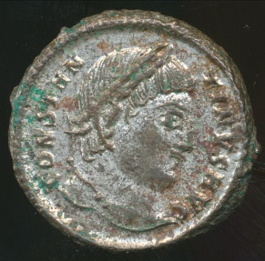 Ancient Coins - CONSTANTINE I, Silvered AE-3, AD 306-337, Struck 325-326 AD (19mm, 3.24 gm) Cyzicus mint,  RIC VII, 34