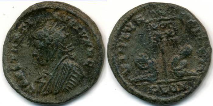 Ancient Coins - CONSTANTINE II, AE follis, AD 317-340, London mint, (19mm, 2.87 g), Struck AD 320-321 - RIC VII 190