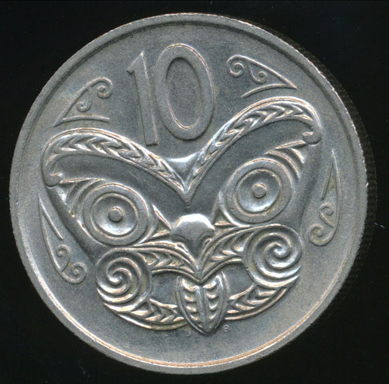 New Zealand 1975 Ten Cents 10c Elizabeth Ii Almost Uncirculated