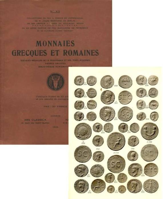 Ancient Coins - ARS CLASSICA XII. MONNAIES GRECQUES ET ROMAINES COMPOSANT LES COLLECTIONS BISSEN, WERTHEIM, EVANS, DE PETROWICZ  (ROMAN SECTION OFFPRINT)