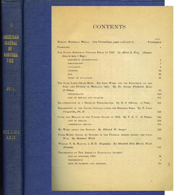 US Coins - American Journal of Numismatics, 1913, Volume XLVII